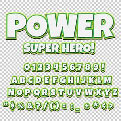 Creative high detail comic font. Alphabet of comics, pop art.