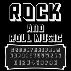 Script Font Typeface Rock and Roll Music-vintage script font-Vector typeface for labels and any type designs
