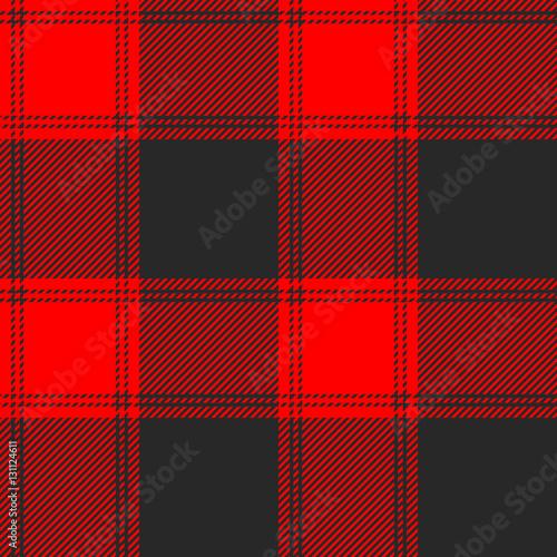 seamless red and black buffalo plaid pattern. checkered fabric