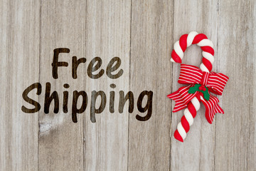 Christmas free shipping message