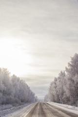 winter russian road