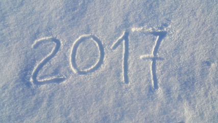 2017 drawing on the white snow