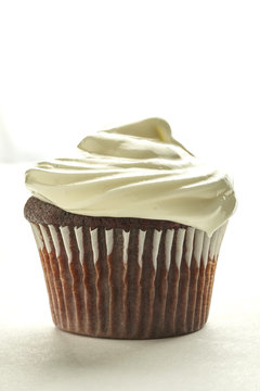 Chocolate cupcake with icing