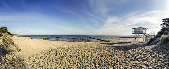 beach at baltic sea in usedom