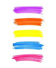 Set of abstract color elements