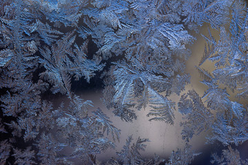 Amazing patterns on frosty window