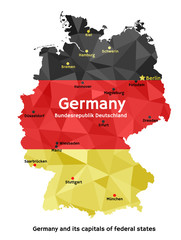 Map of Germany - Bundesrepublik Deutschland