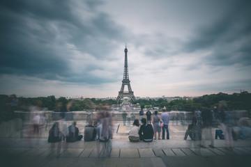 Crowd in front of Tour Eiffel - Paris