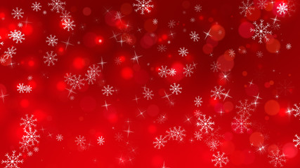 Red Christmas with Snowflakes Background
