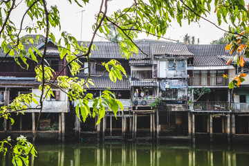 Apartments on river, Thailand