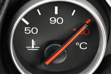 Temperaturanzeige - Überhitzung