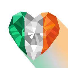 Vector crystal Irish flag Saint Patrick Day