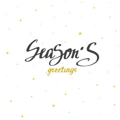 Season's greetings Christmas calligraphy. Handwritten modern brush lettering.