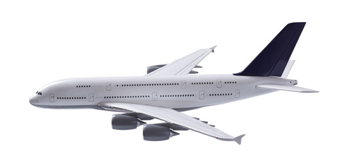 Isolated airplane with clipping path