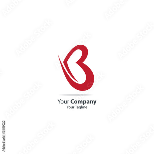 quotinitial letter b love symbol logoquot stock image and