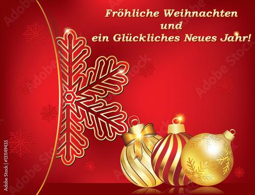 Grußkarte zum Thema Neues Jahr - Frohe Weihnachten und ein ...