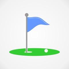 Golf hole icon vector