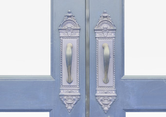 Classic and Antique door handle with wood door