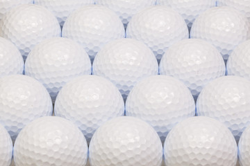 Pattern from white golf balls