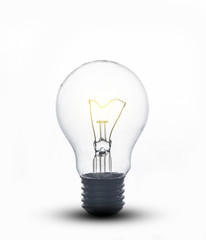 old light bulb on a white background