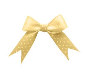 Beautiful ribbon bow on white background