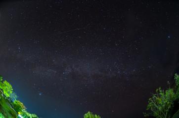 Milky way over Huai Nam Dang National Park in Chiang Mai, North of Thailand