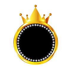 王冠 金 フレーム アイコン