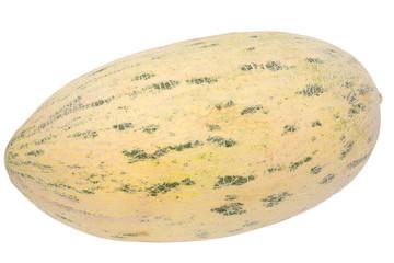 melon striped on a white background