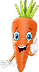 Cartoon carrot giving thumbs up
