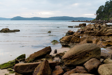 Daybreak rocky seascape