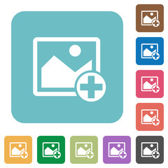 Add new image rounded square flat icons