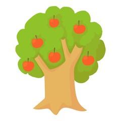 Apple tree icon. Cartoon illustration of apple tree vector icon for web design