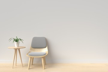 chair in room white background Modern Style,3D rendering