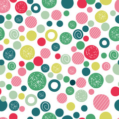 Wall Mural - Cute kids background design with polka dot children seamless pattern