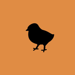chick icon. flat design