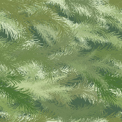 Seamless background of spruce branch.
