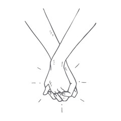 People holding hands concept, vector illustration