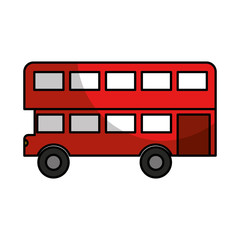 london bus classic icon vector illustration design