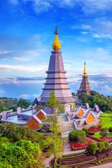 Wall Mural - Landmark pagoda in doi Inthanon national park at Chiang mai, Tha