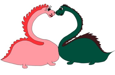 love dinosaurs and heart