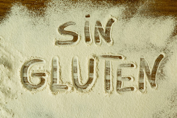 Flour with writted word SIN GLUTEN