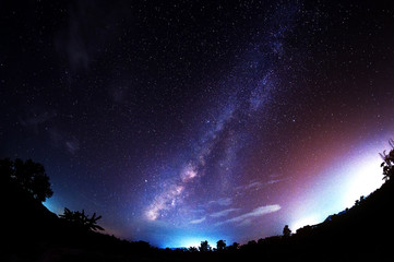 Milky Way Galaxy at Night.
