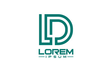 logo letter l and d