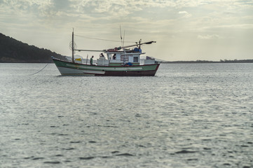 fishing boat anchored