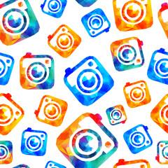 Photo camera seamless pattern