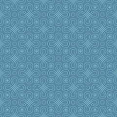 Neutral Seamless Linear Flourish Pattern in Niagara color