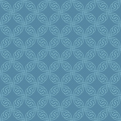 Neutral Seamless Celtic Knotwork Pattern in Niagara color