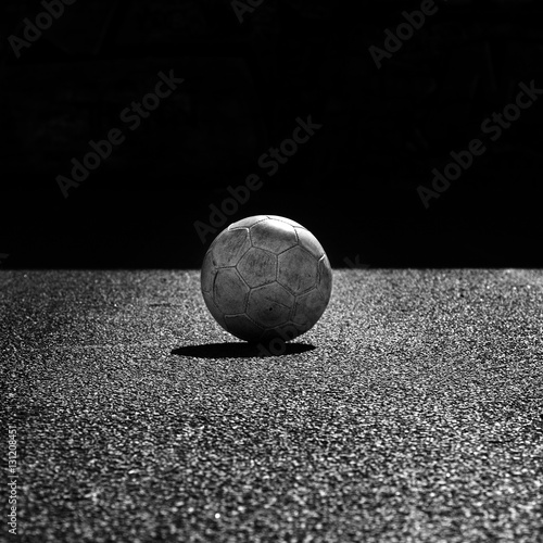 Ballon de foot en noir et blanc stock photo and royalty free imag - Ballon foot noir et blanc ...