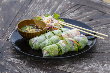 Fresh Spring Roll, Vietnamese Food.