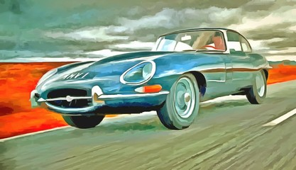 Sportwagen - virtual painting